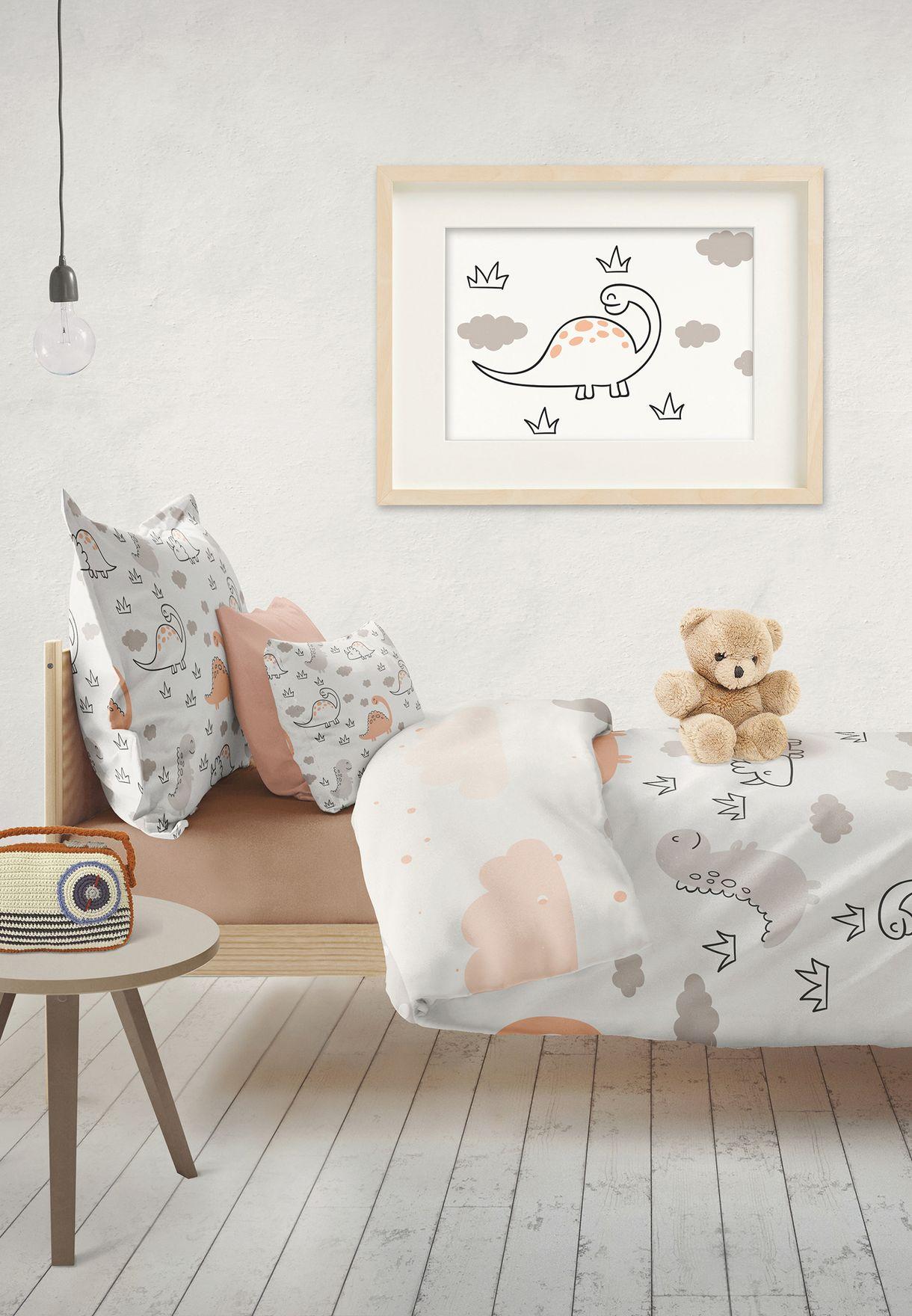 Kids Dinosaur Bed Sheet + Pillow Case Set Single