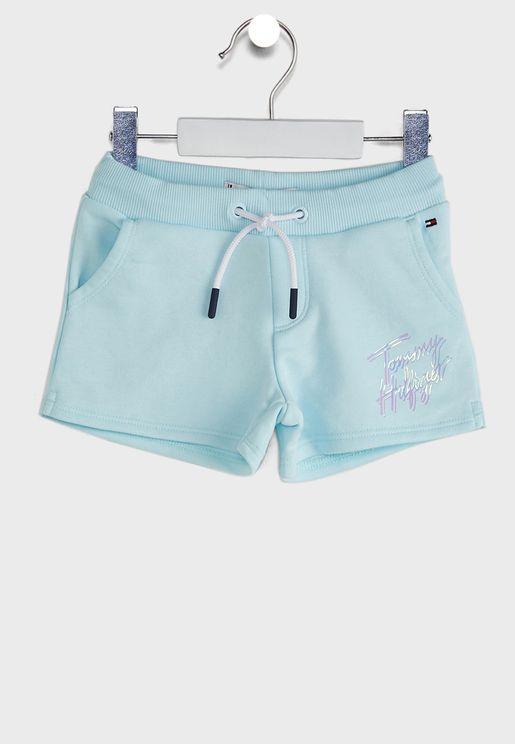 Kids Cool Logo Print Sweat Shorts