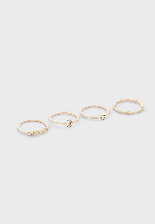 Tiny Celestial Ring Stack