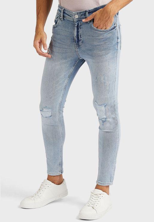 Light Wash Super Skinny Fit Jeans