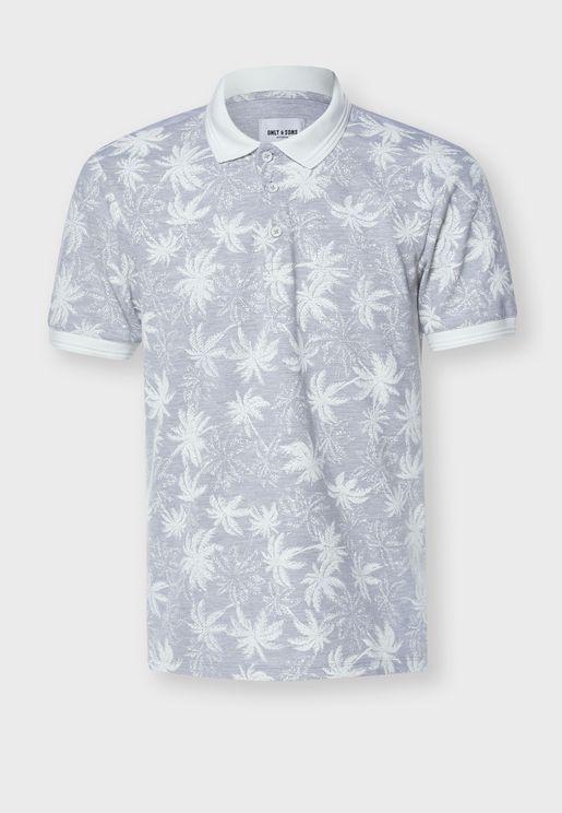 Palm Print Polo