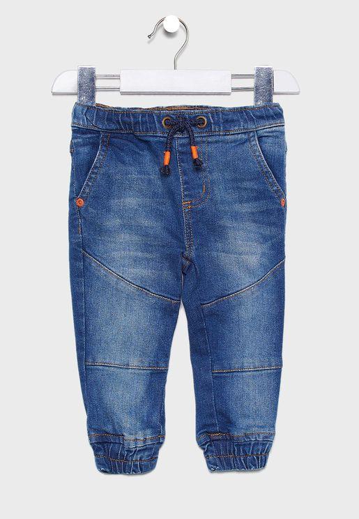 Infant Tie Waist Jogg Jeans