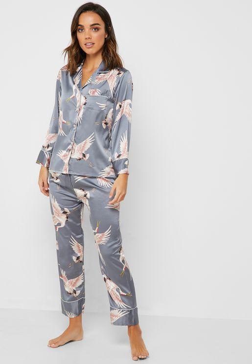 73b4732902f Printed Shirt Pyjama Set