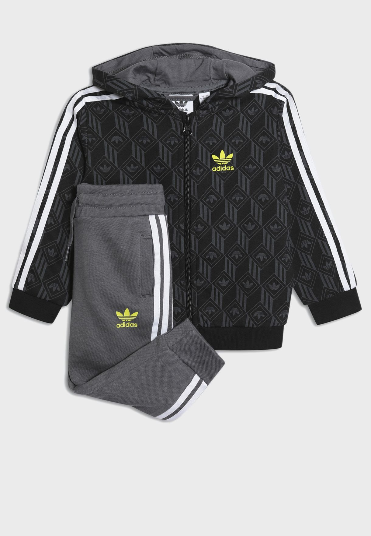 Full Zip All Over Print Casual Kids Tracksuit