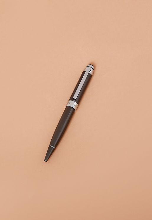 قلم حبر جاف مزين بشعار الماركة