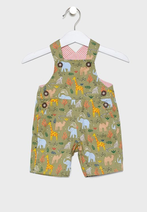 Kids Jungle Safari Dungaree