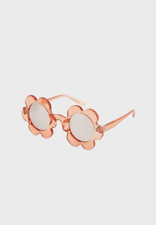 نظارة شمسية بطباعة زهور للاطفال