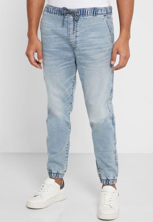 بنطال جينز باربطة واساور