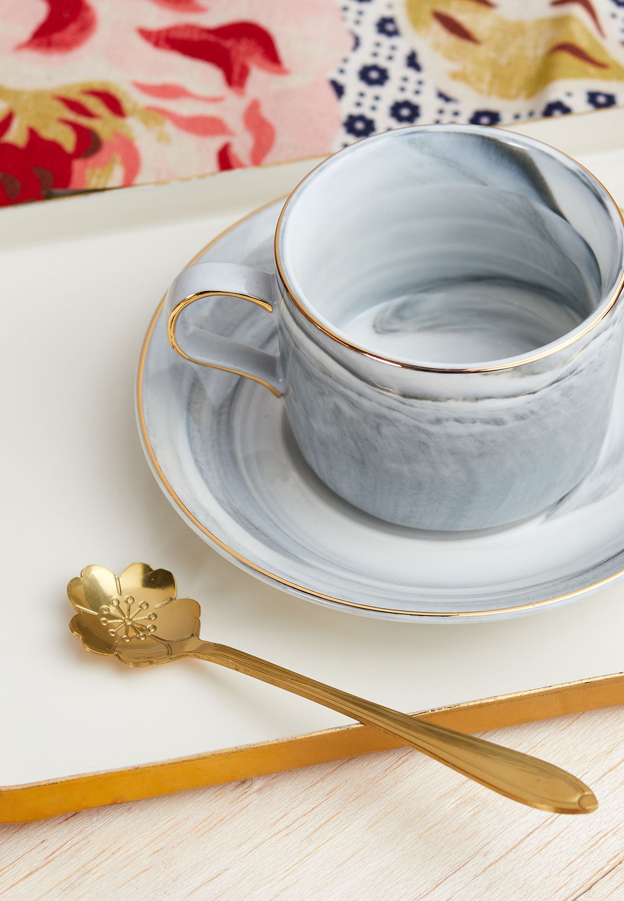 Marble Cup & Saucer Set