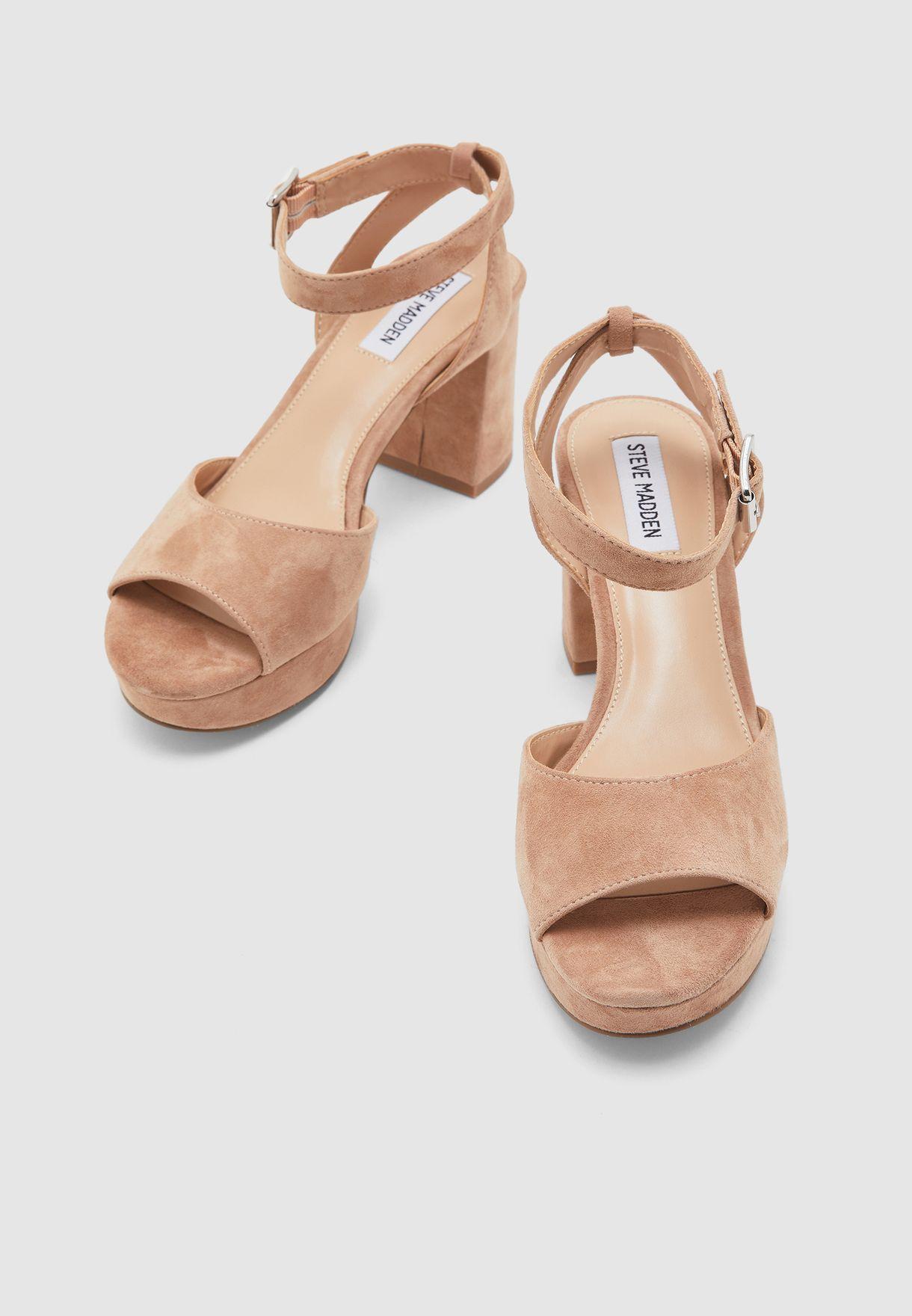 Haven Ankle Strap Sandal - Brown