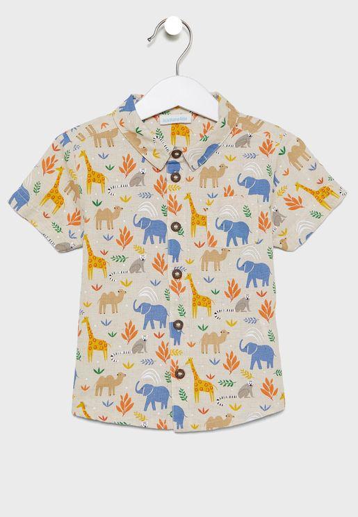 Kids Safari Print Shirt