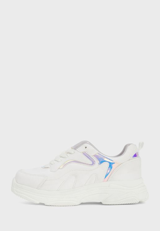 Youth Foil Detail Sneaker