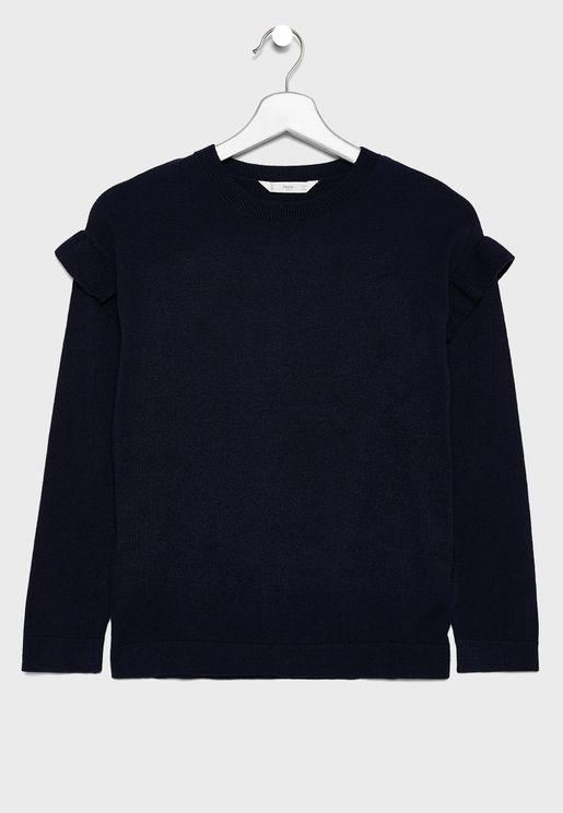 Kids Frill Sleeve Sweater