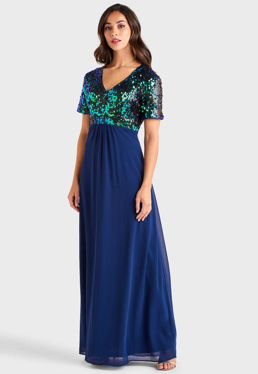 Sequin Detail Dress
