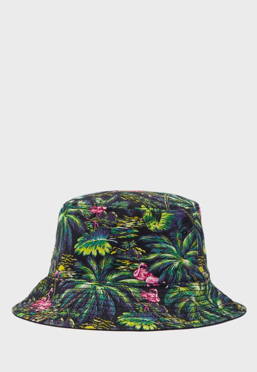 Kids Flamingo Embroidered Bucket Hat