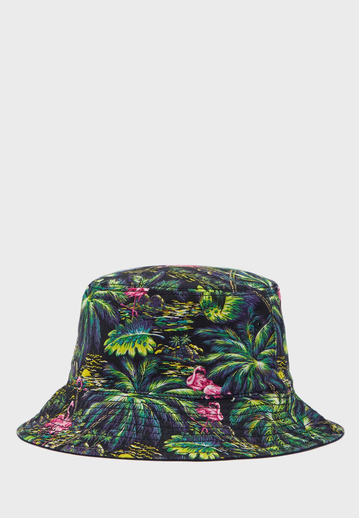 Kids Flamingo Embroidered Bucket Hat