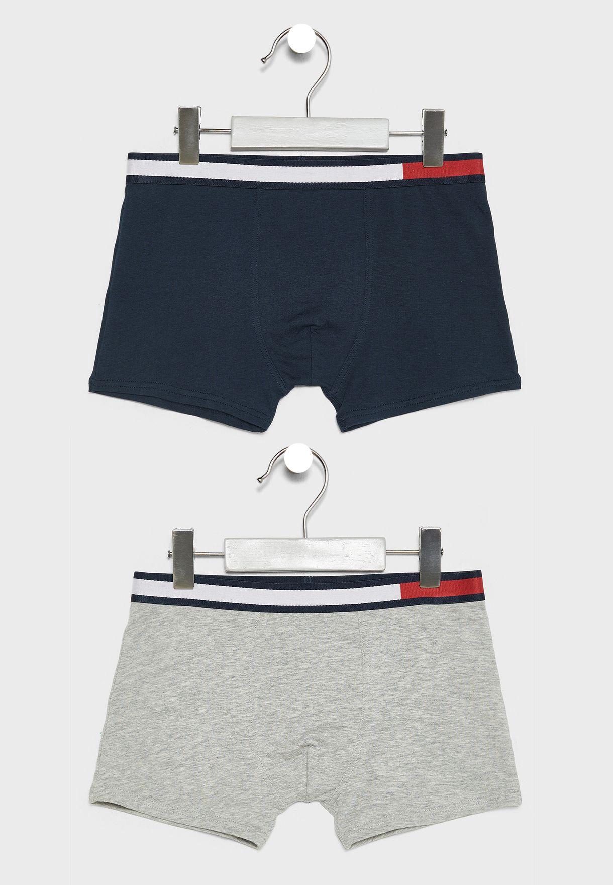 TOMMY HILFIGER Girls/' Underwear 8-10 Years 2-pack Boy Style Shorts