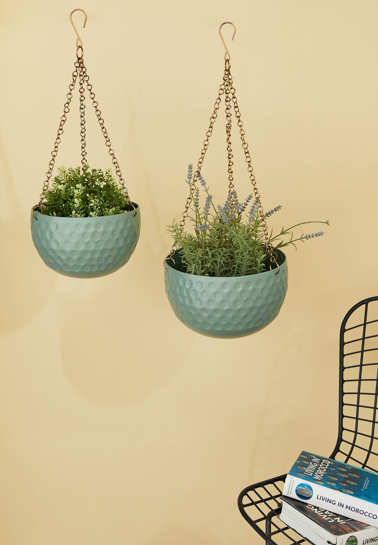 Buy Present Time Green 2 Pack Hanging Plant Pot For Women In Riyadh Jeddah Saudi 24360ac88wfp