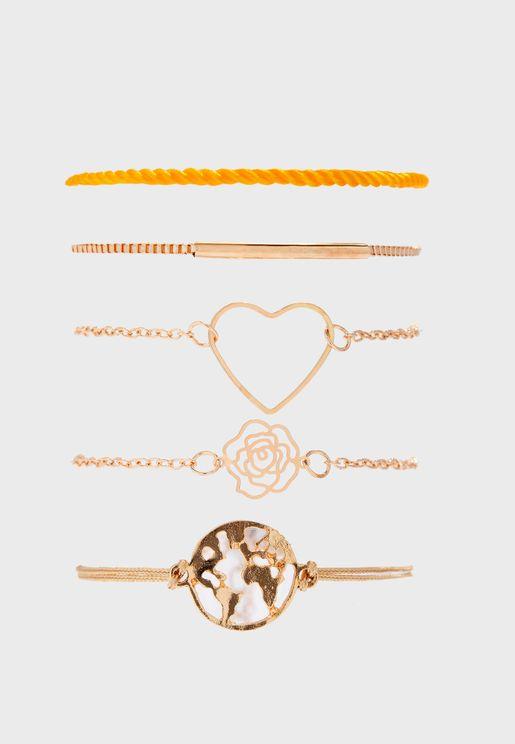 Large Heart Multipack Bracelet Set