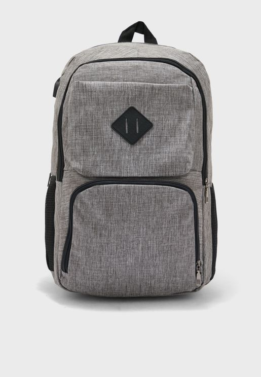 Pocket Detail Laptop Sleeve Back Pack