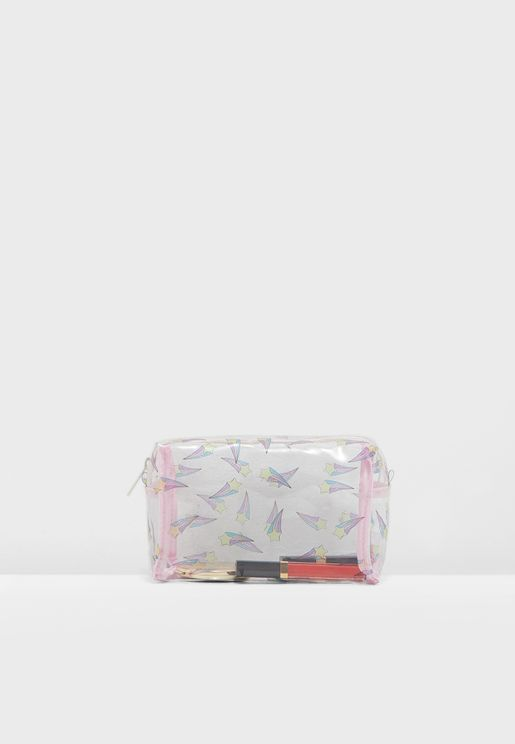 Shooting Star Print Cosmetic Bag