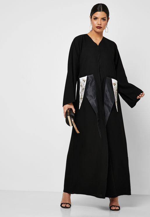 Embellished Pocket Abaya