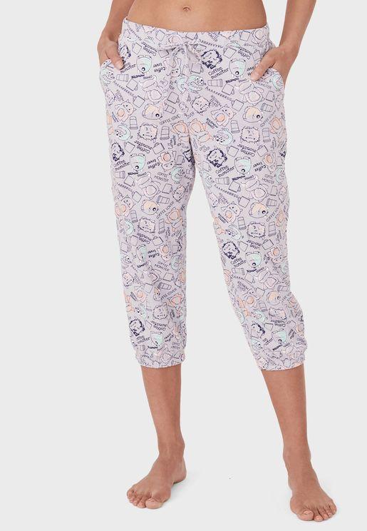 Printed Pyjama Capri