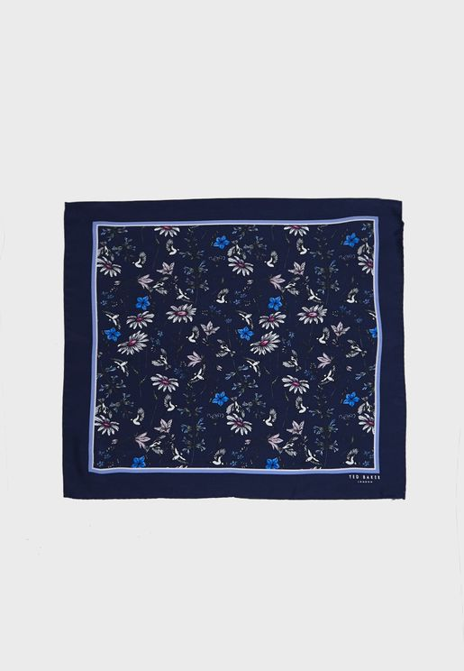 Brushpo Floral Pocket Square Scarf