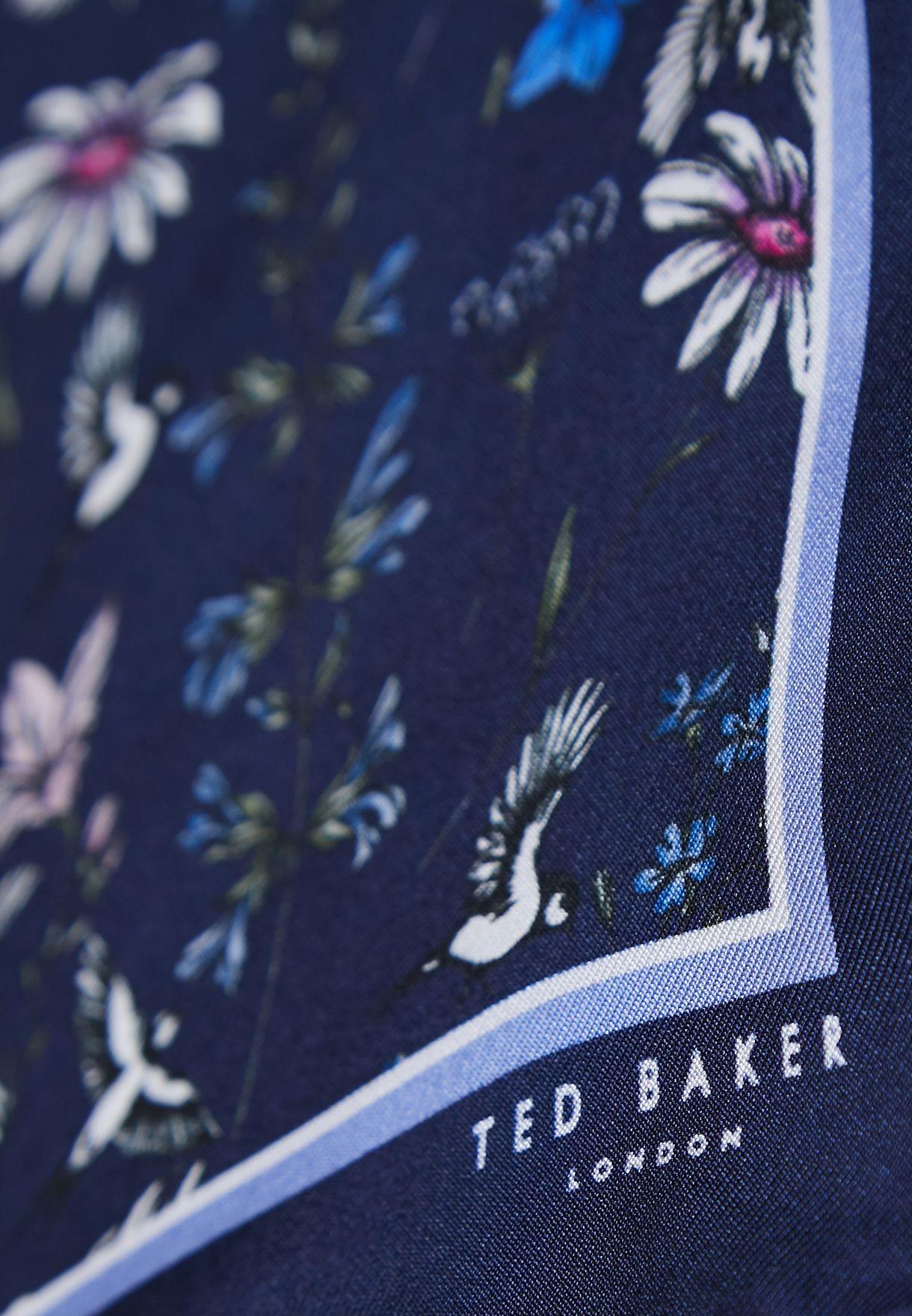 وشاح جيب بطباعة زهور