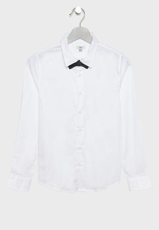 قميص مزين بربطة عنق
