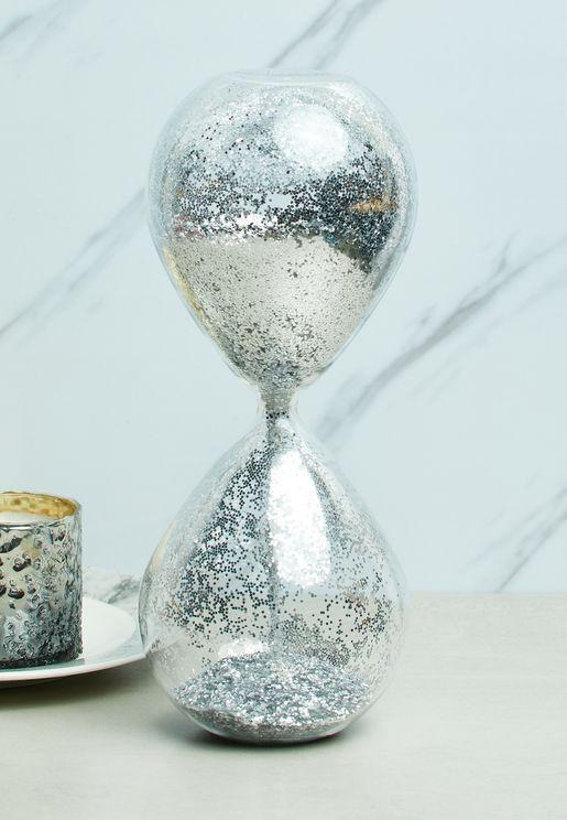 ساعة رملية بذرات براقة