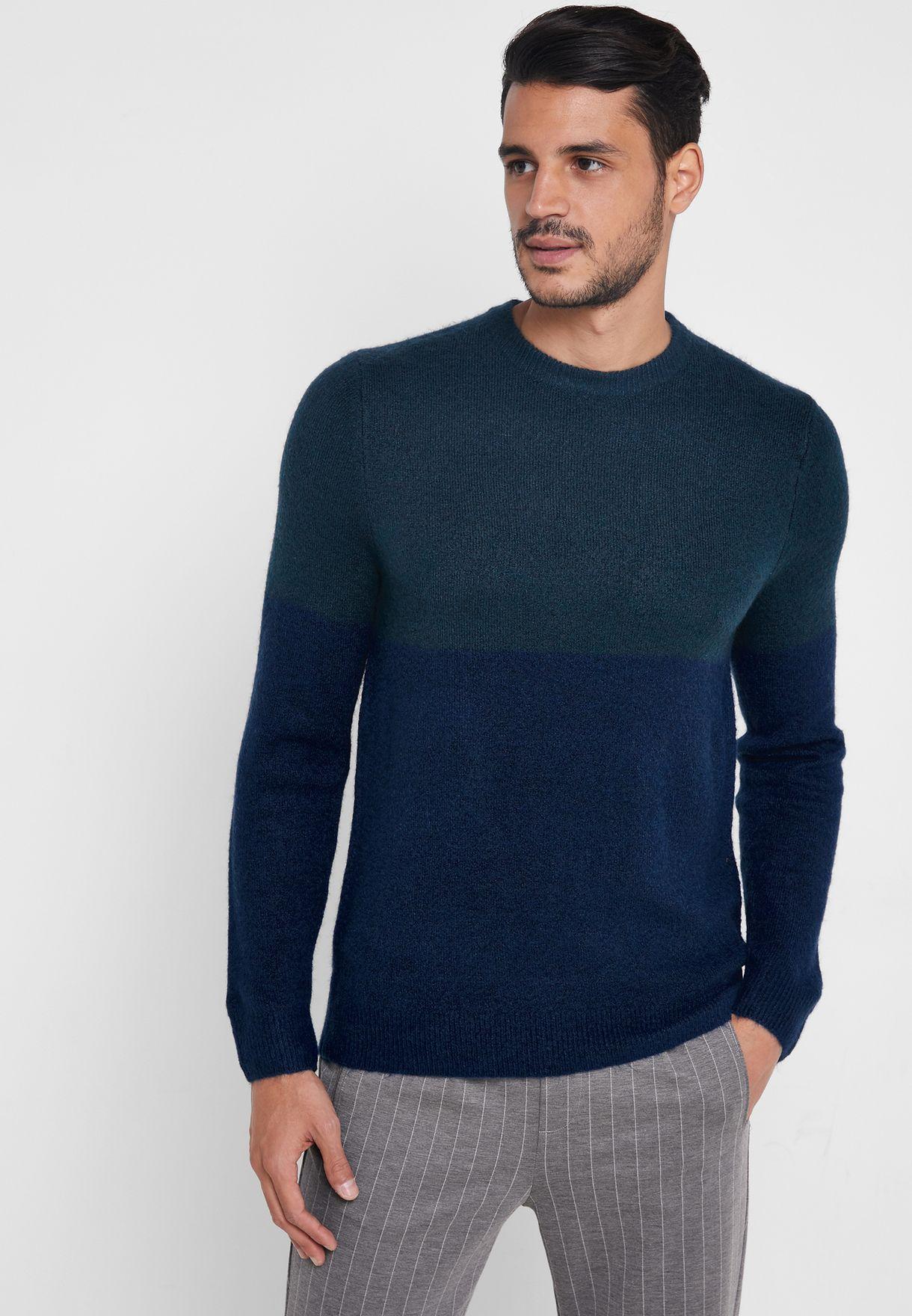 Cleaveland Color Block Sweater