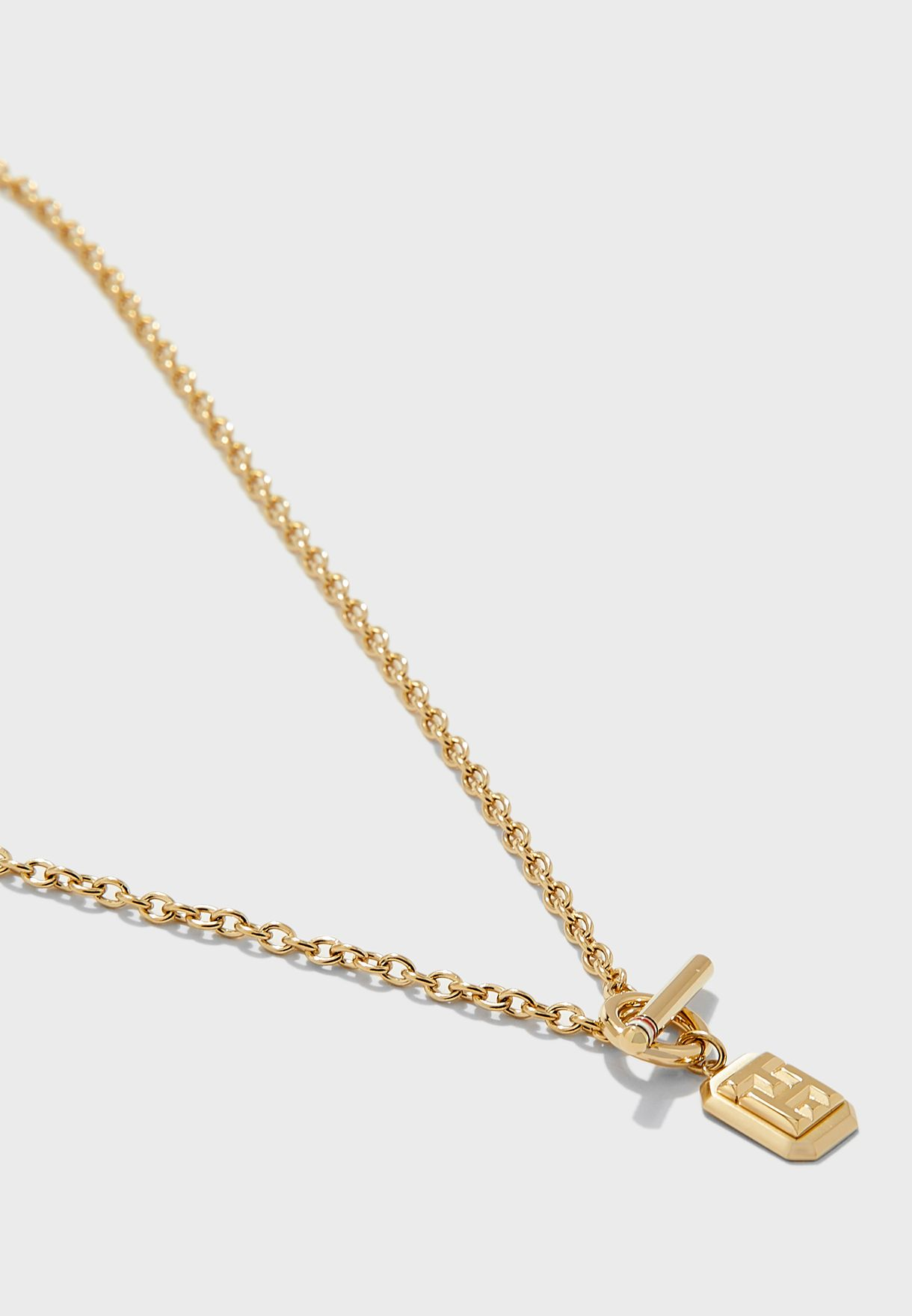 Logo Charm Necklace