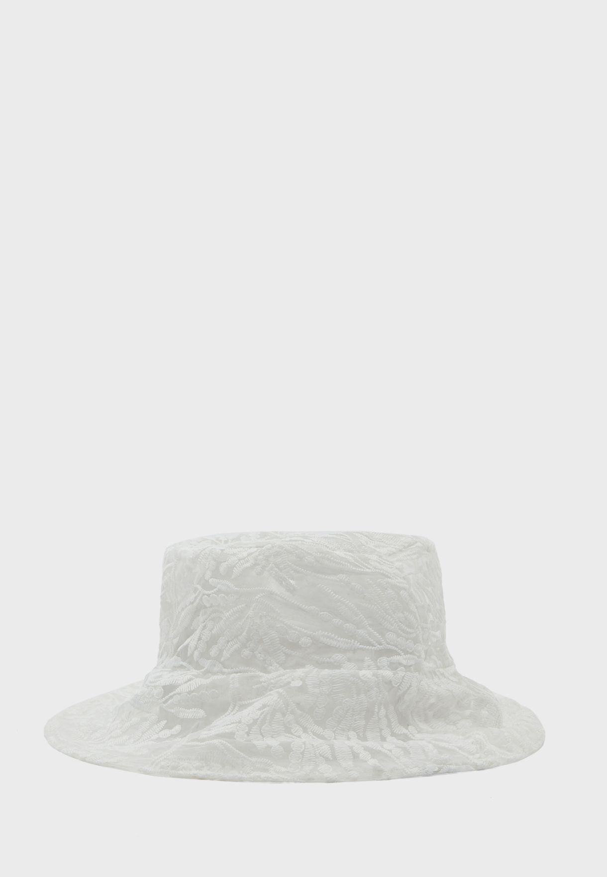 Sheer Patterned Bucket Hat
