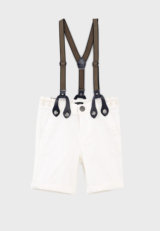 Kids Essential Shorts With Suspenders