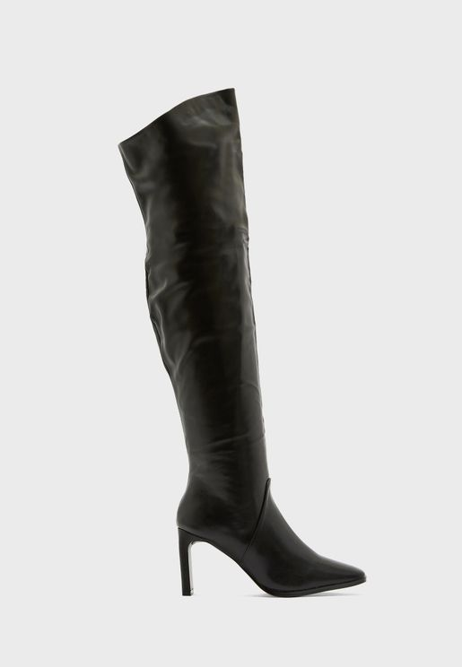 Round Toe Knee High Boot