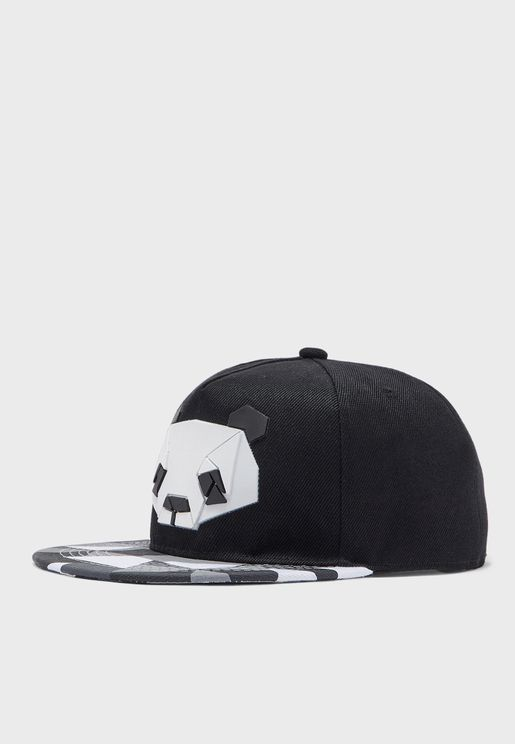 Animated Panda Print Cap