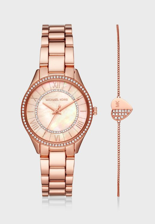 Lauryn Analog Watch + Bracelet gift set