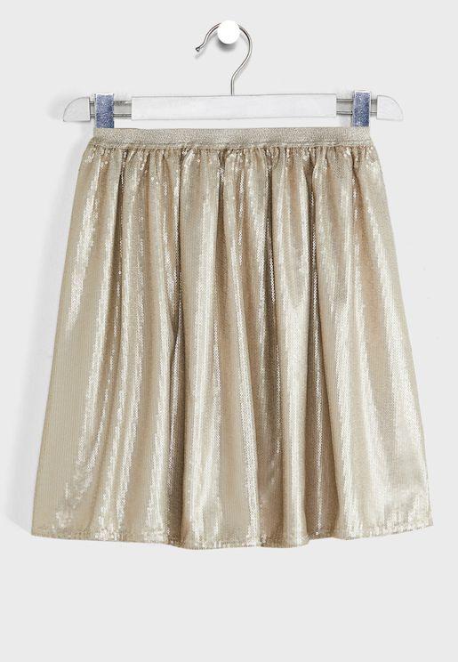 Kids Pleated Skirt