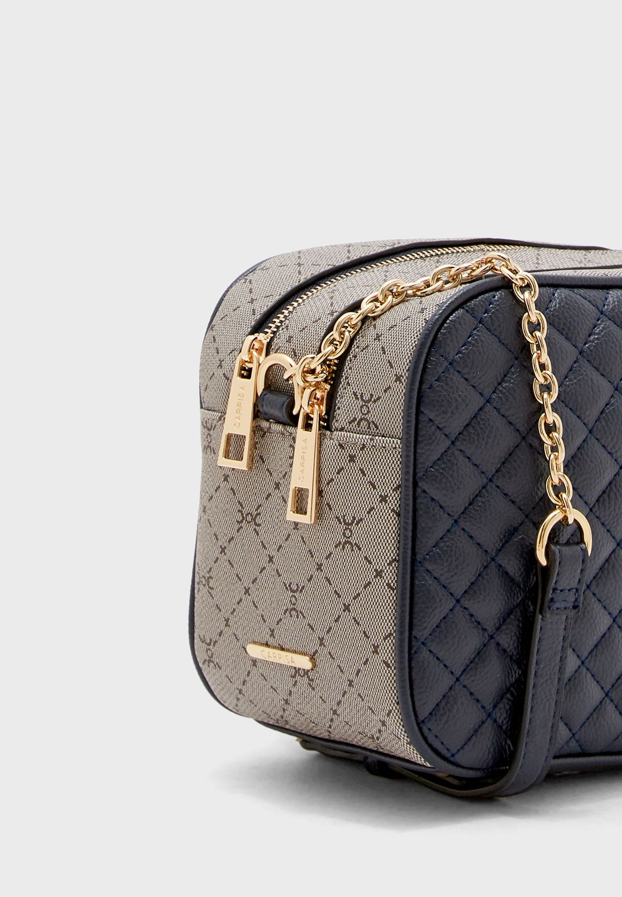 Quilted Zip Through Crossbody