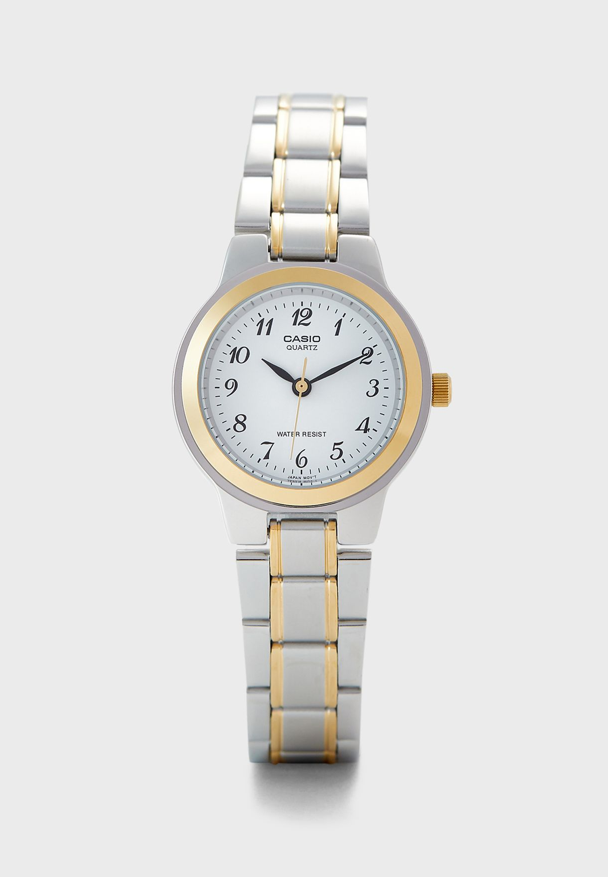 Two Tone Steel Strap Analog Watch