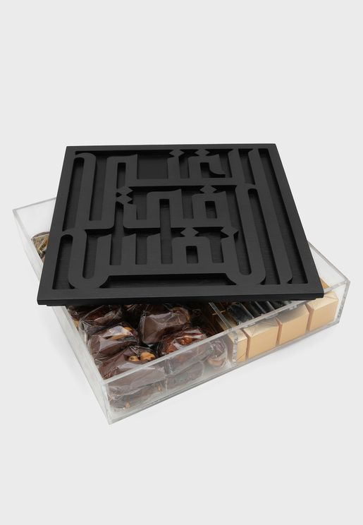 صندوق تخزين بطباعة الغنى في النفس