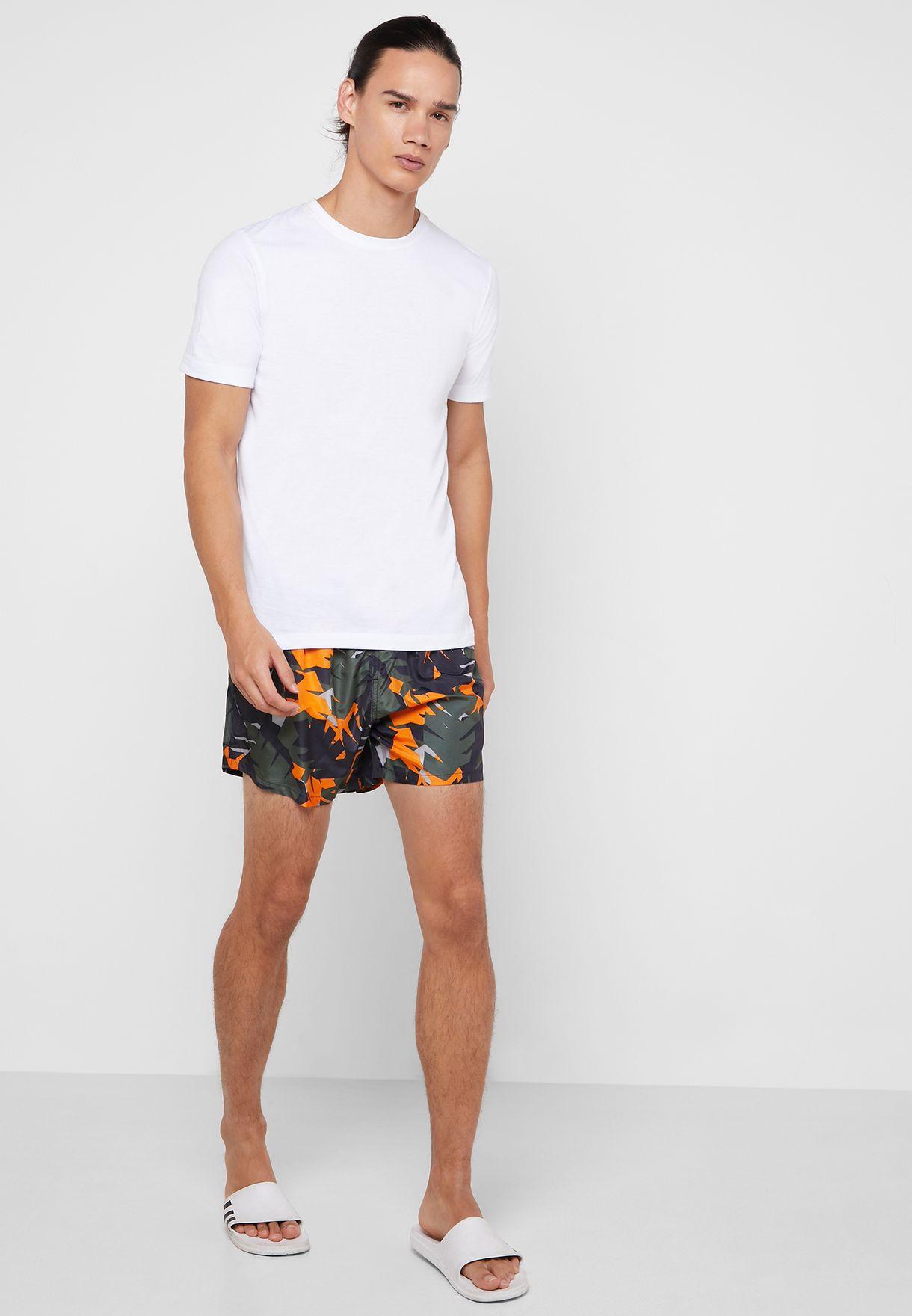 Palm Camo Printed Swimshort