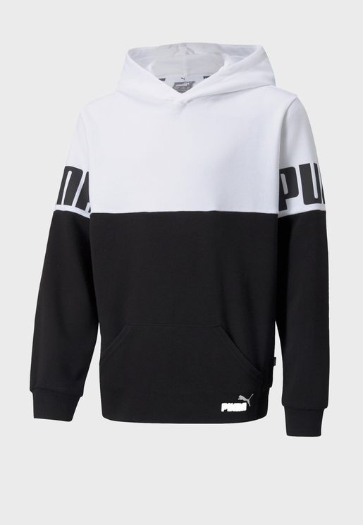 Youth Power Colour Block Hoodie