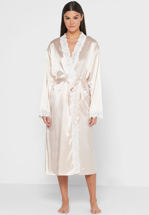 Lace Trim Night Robe
