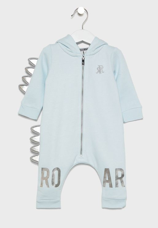 Infant Dino Hooded Romper