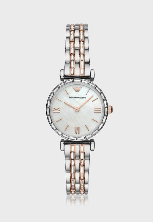 AR11290 Gianni T-Bar Strap Analog Watch