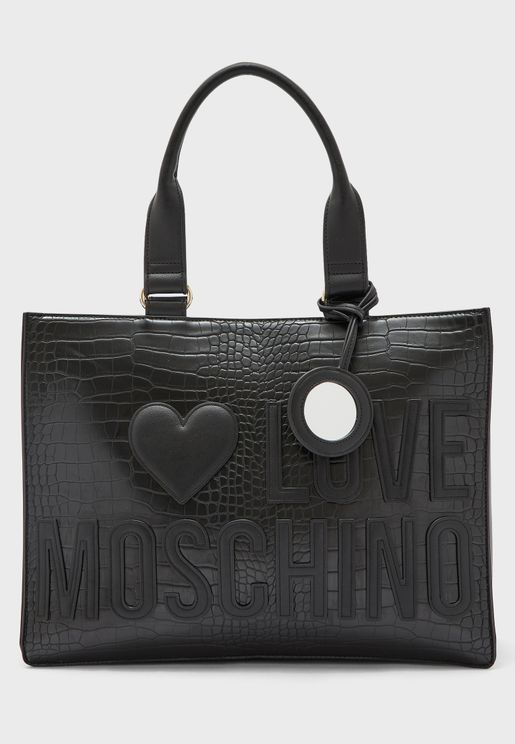 Logo Top Handle Tote