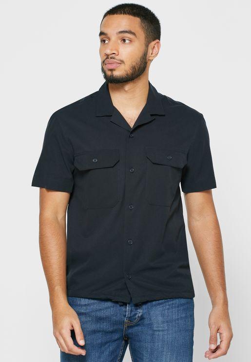 Perforated Slim Fit Shirt