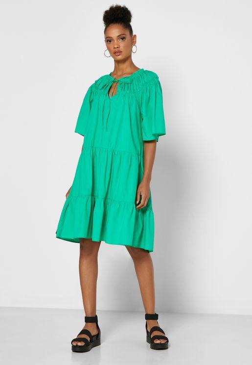فستان قطني واسع